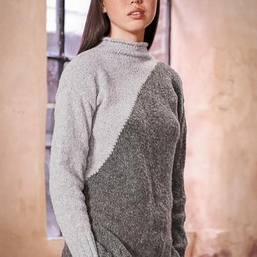 Wooladdicts Dark Side Pullover Strickpaket XL