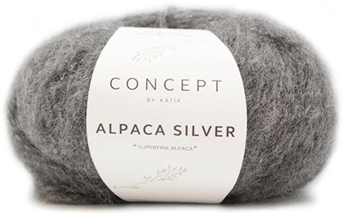 Katia Alpaca Silver 256 Dark grey silver