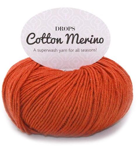 Drops Cotton Merino Uni Colour 25 Rost