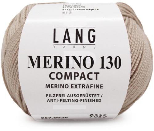 Lang Yarns Merino 130 Compact 26 Beige