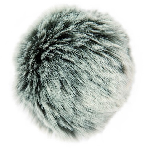 Rico Kunstbont Pompon Medium 27 Grey-Silver