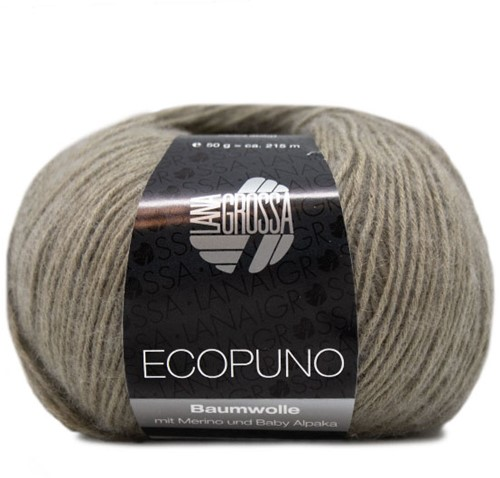 Ecopuno Ajourtop Strickpaket 1 36/38 Khaki