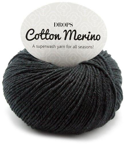 Drops Cotton Merino Uni Colour 2 Schwarz