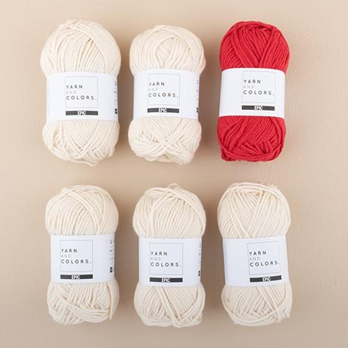 Yarn and Colors Streifenpullover Strickpaket 2 S Cardinal