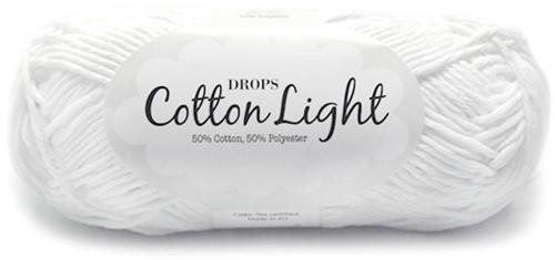 Drops Cotton Light Uni Colour 02 White