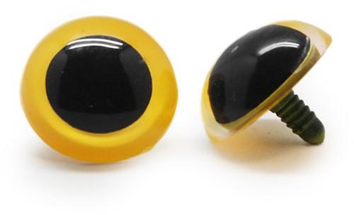 Plastik Sicherheitsaugen Basic Gelb (2 Stück) 30mm