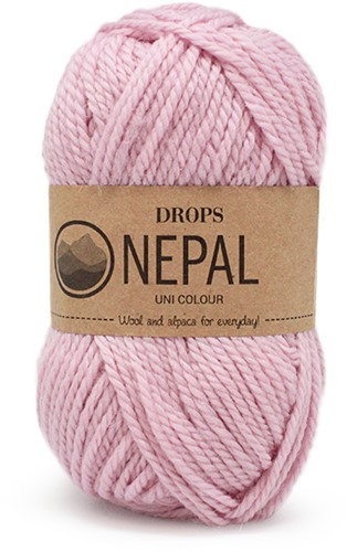 Drops Nepal Uni Colour 3112 Puderrosa