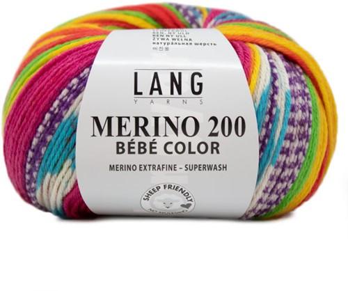 Lang Yarns Merino 200 Bebe Color 313 Yellow/light green/red
