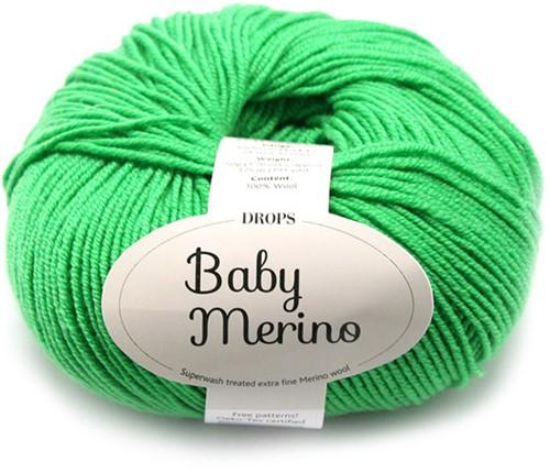 Drops Baby Merino Uni Colour 31 Knallgrün