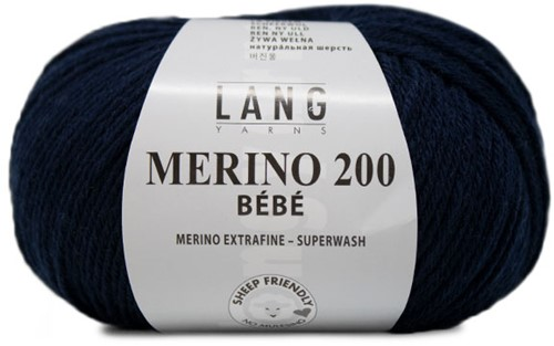 Lang Yarns Merino 200 Bebe 325 Navy
