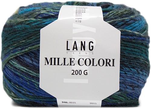 Lang Yarns Mille Colori 200 Gr. 35 Blue/Green
