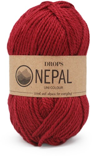Drops Nepal Uni Colour 3608 Tiefrot