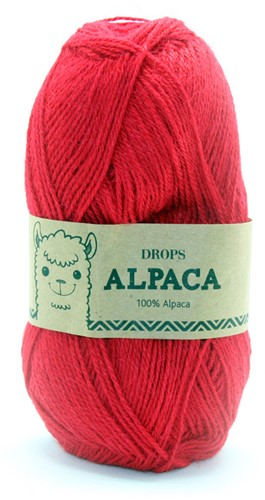 Drops Alpaca Uni Colour 3620 Rot