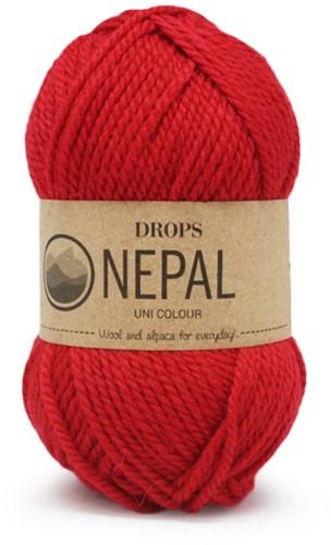 Drops Nepal Uni Colour 3620 Rot