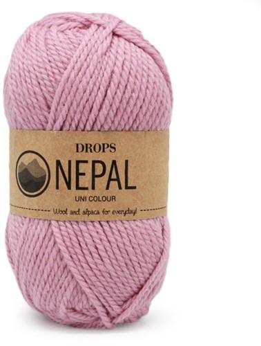 Drops Nepal Uni Colour 3720 Rosa