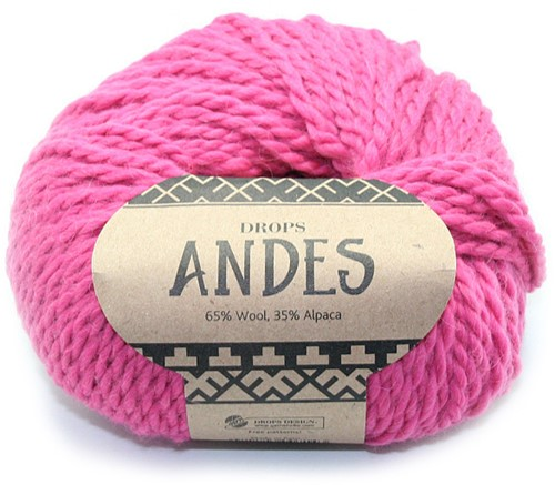Drops Andes Uni Colour 3755 Cerise