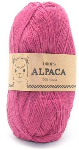 Drops Alpaca Uni Colour 3770 Dunkelrosa