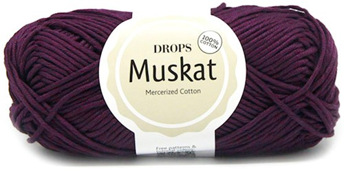 Drops Muskat Uni Colour 38 Dark-purple