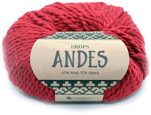 Drops Andes Uni Colour 3946 Rot