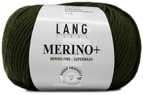Lang Yarns Merino+ 398 Loden Green