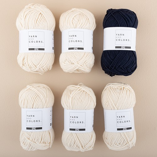 Yarn and Colors Streifenpullover Strickpaket 3 L Dark Blue