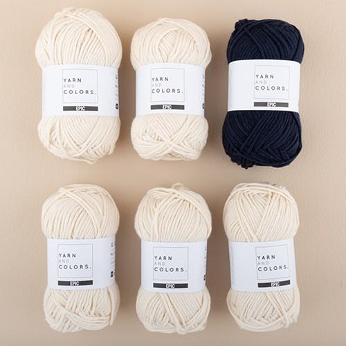 Yarn and Colors Streifenpullover Strickpaket 3 S Dark Blue