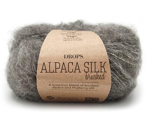 Drops Brushed Alpaca Silk Uni Colour 03 Grey