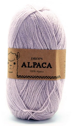Drops Alpaca Uni Colour 4010 Perlgrau