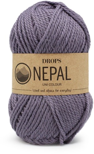 Drops Nepal Uni Colour 4311 Graulila