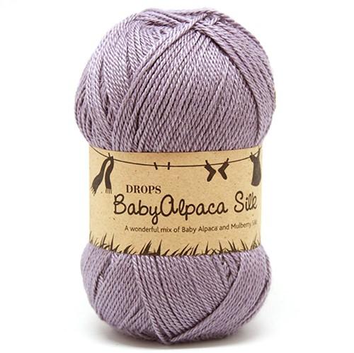 Drops BabyAlpaca Silk Uni Colour 4314 Grey-purple