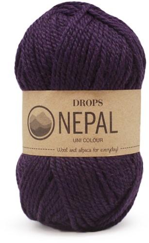 Drops Nepal Uni Colour 4399 Dunkellila