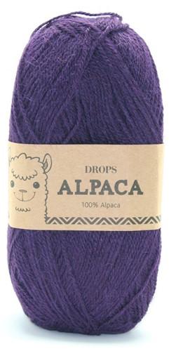 Drops Alpaca Uni Colour 4400 Dunkellila