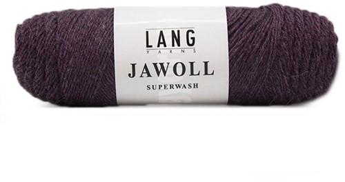 Lang Yarns Jawoll Superwash 480 Eggplant Melange