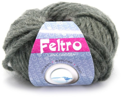 Lana Grossa Feltro 4 Dark Grey Mottled