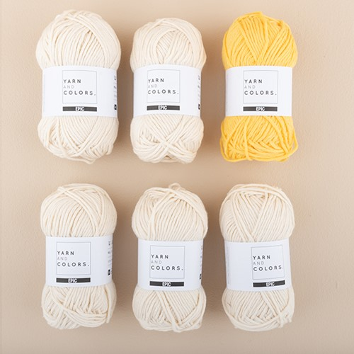Yarn and Colors Striped Jumper Strickpaket 1 L Sunflower