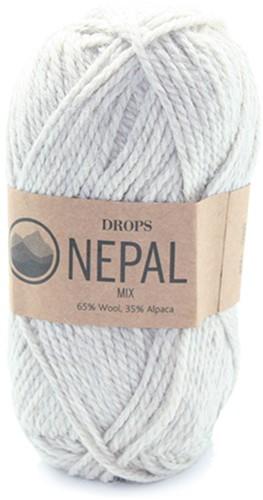 Drops Nepal Mix 500 Hellgrau