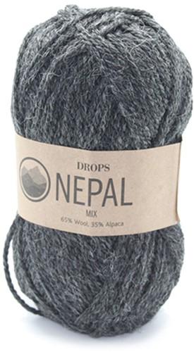 Drops Nepal Mix 506 Dunkelgrau