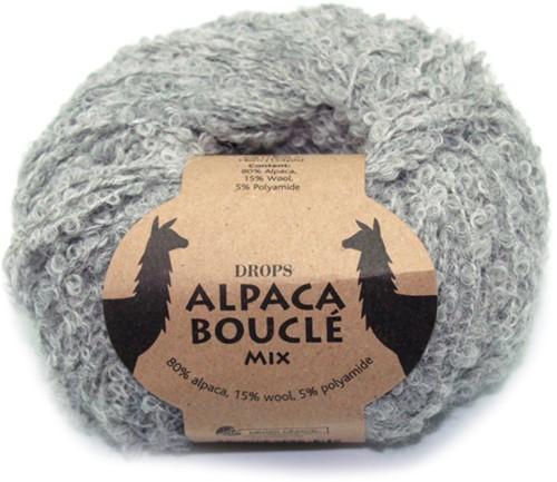 Drops Alpaca Bouclé Mix 5110 Hellgrau