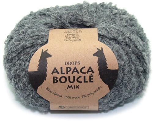 Drops Alpaca Bouclé Mix 517 Grau