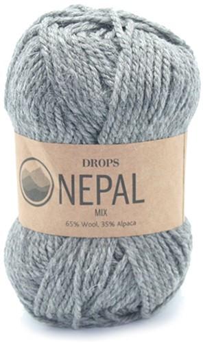 Drops Nepal Mix 517 Mittelgrau