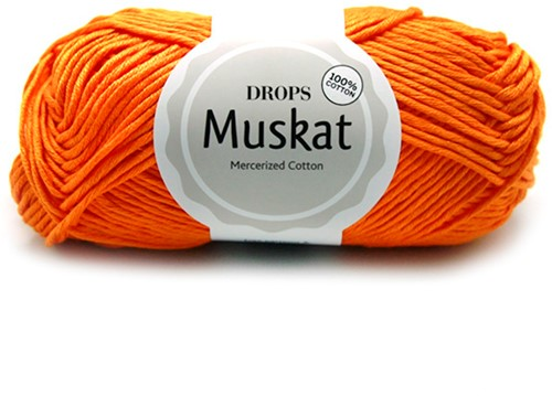 Drops Muskat Uni Colour 51 Light-orange