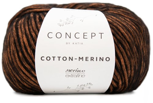 Katia Cotton-Merino 52 Orange - Black