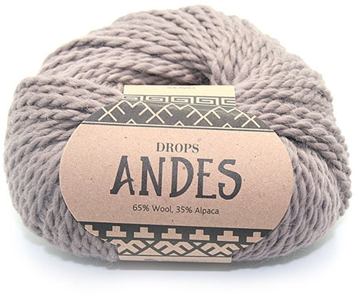Drops Andes Uni Colour 5310 Hellbraun
