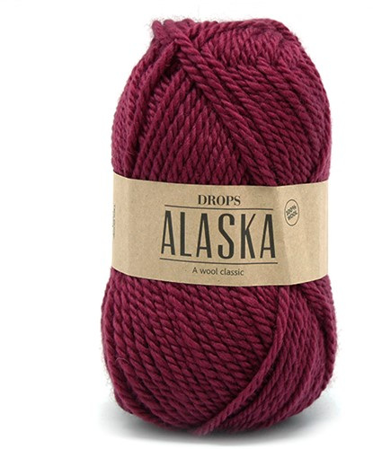 Drops Alaska Uni Colour 53 Dark-pink