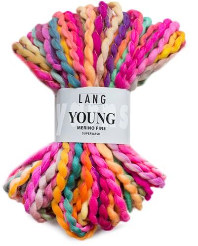 Lang Yarns Young 54 Multicolor Fuchsia/Violet/Green