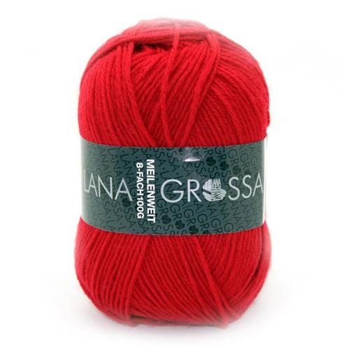 Lana Grossa Meilenweit Sportwolle 555 Red