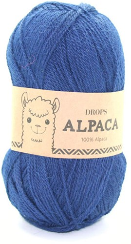 Drops Alpaca Uni Colour 5575 Marineblau