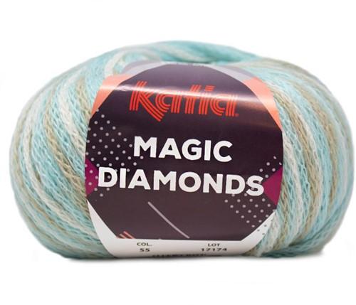 Katia Magic Diamonds 055 Sky Blue / Ecru / Beige