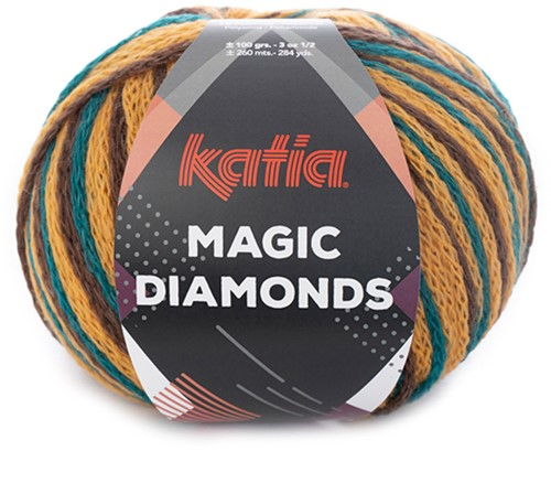 Katia Magic Diamonds 056 Green-Blue / Ocher / Brown