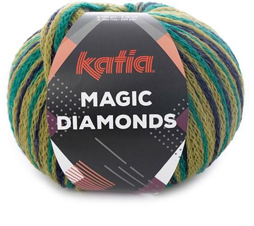 Katia Magic Diamonds 057 Green / Dark Blue